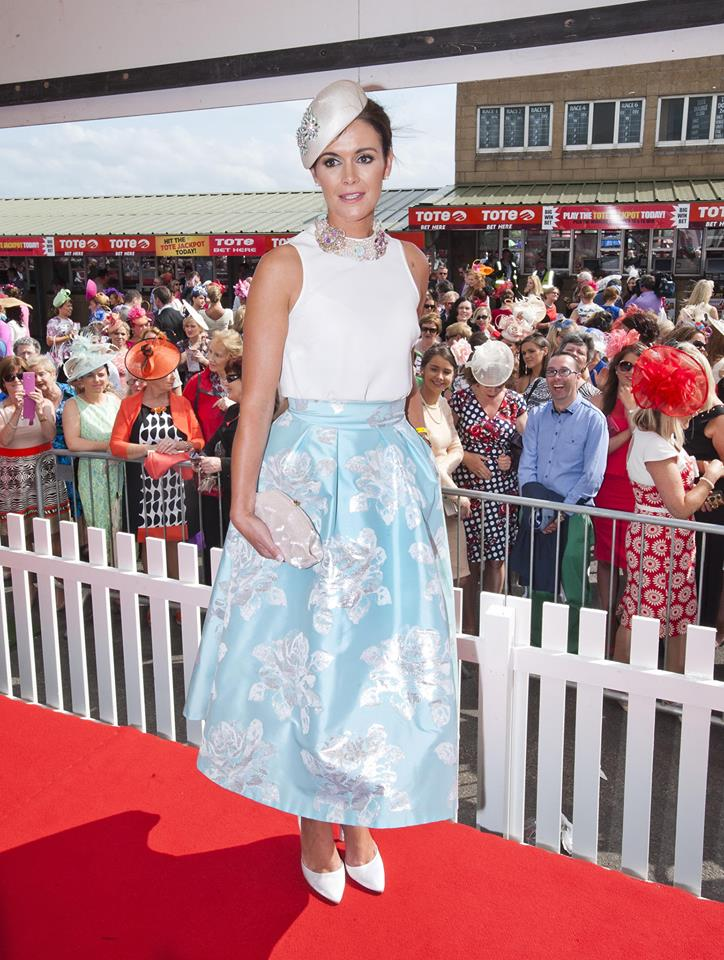 Helen Murphy from Douglas, Co. Cork, winner of the Best Dressed Lady at the Galway Races. Photo by Declan Monaghan